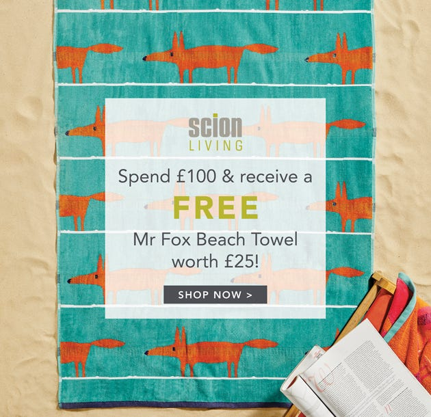 Free Beach Towel on Orders Over £100