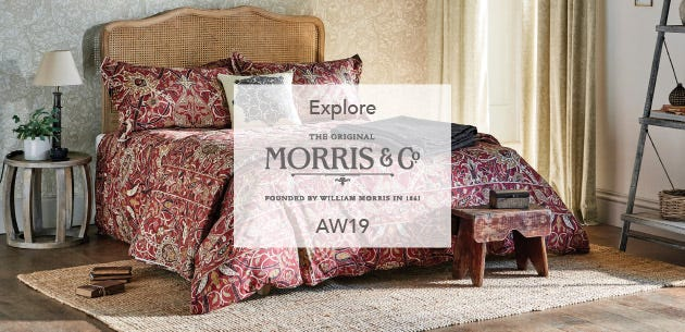 William Morris Bullers Wood Bedding Collection