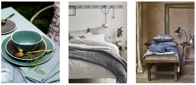 Murmur Ceramic Living and Bed Linen Collections