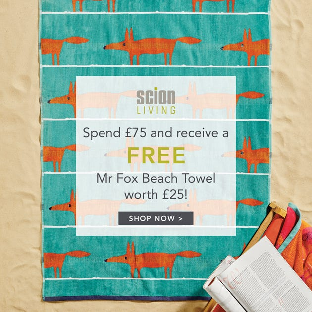 Free Scion Mr Fox Towel Offer