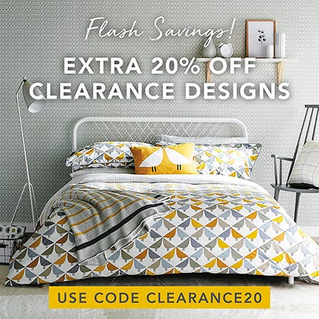 Shop Clearance Bedding 20% Off