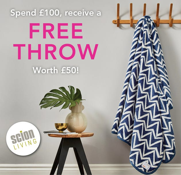 Free Scion Throw With Orders Over £100