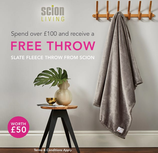 Free Scion Fleece Throw