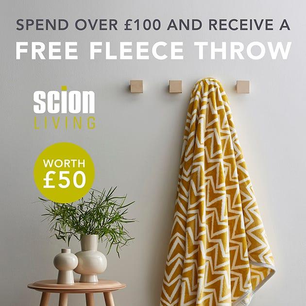 Free Scion Fleece Throw