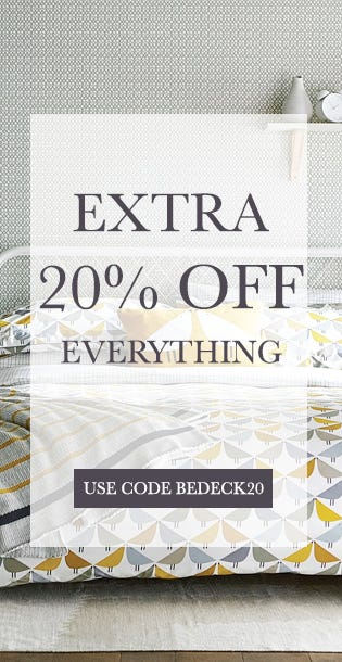 Extra 20% Off Bedding