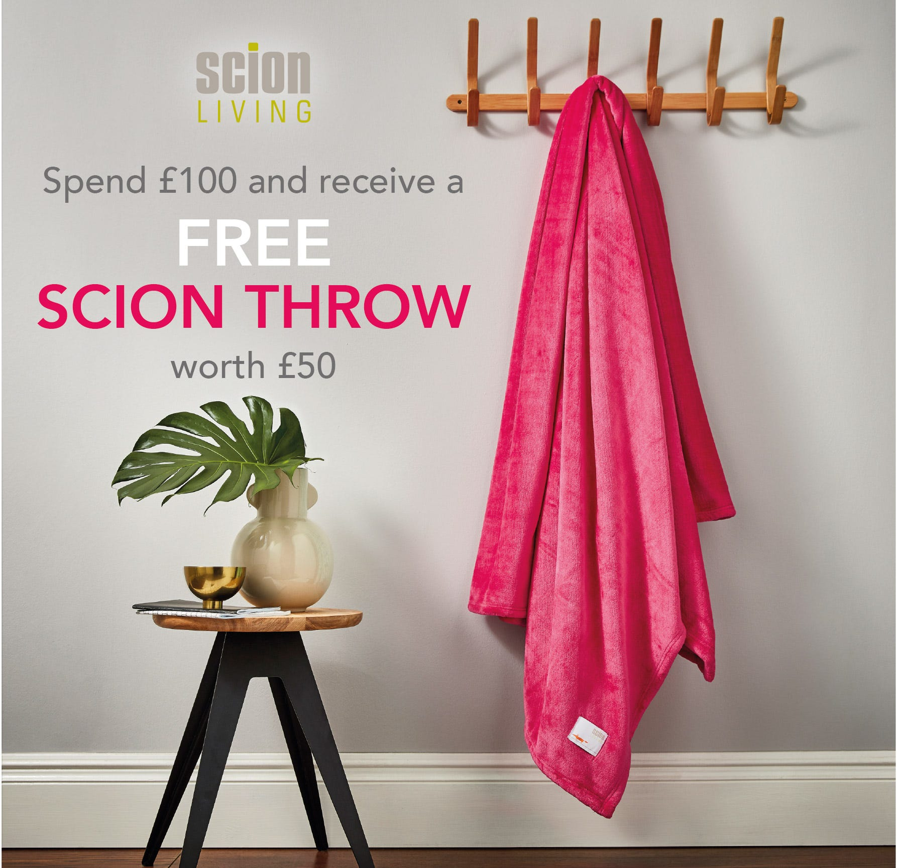 Free Scion Throw When You Spend £100 or more