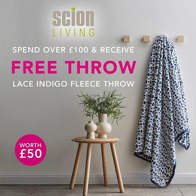 Free Scion Lace Fleece Throw