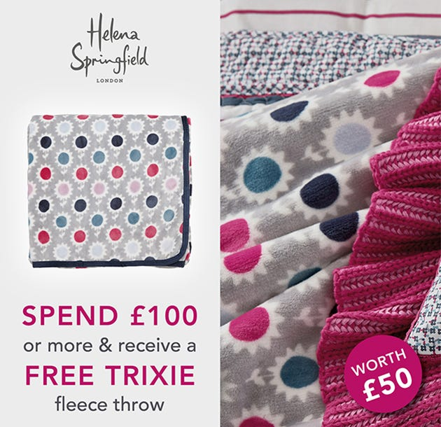 Helena Springfield Trixie Raspberry Throw